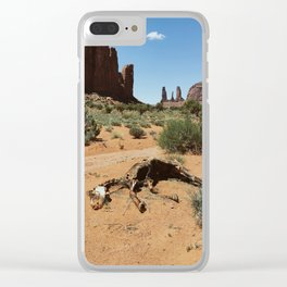 Monument Valley Horse Carcass Clear iPhone Case