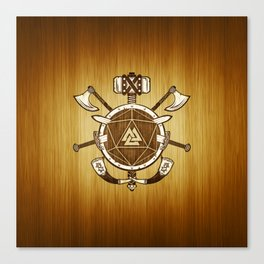 d20 Viking Warrior Canvas Print