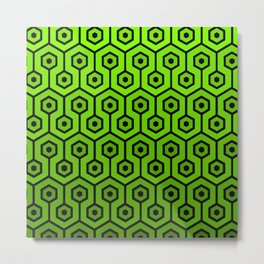 Geometric Design 1 (Lime) Metal Print
