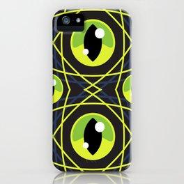 Halloween Green Eyes iPhone Case