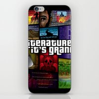 grand theft auto iPhone & iPod Skins featuring Grand Theft Literature by Mitul Mistry