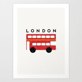 London Double Decker Red Bus Art Print