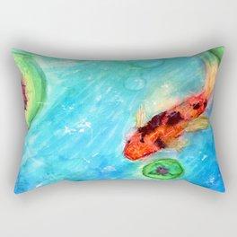 Koi Pond Rectangular Pillow