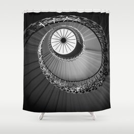 Tulip Staircase, Queen's House Shower Curtain