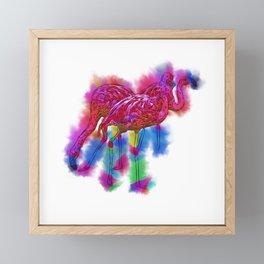 Flamingo Flock In Abstract Framed Mini Art Print
