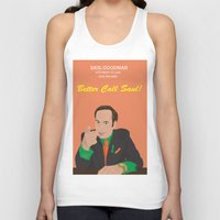 better call saul Tank Tops featuring Better call them! Saul Goodman - Ari Gold by Lucho Margolin