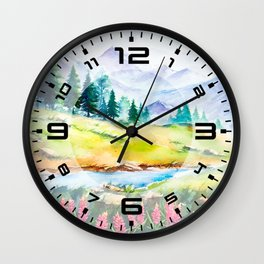 Spring Scenery #3 Wall Clock