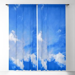 blue cloudy sky std Blackout Curtain