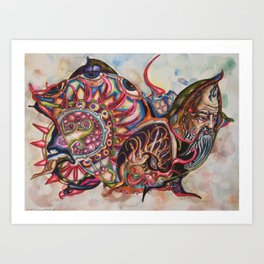 SNAIL DUDE Art Print