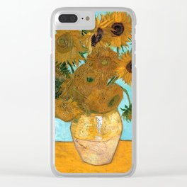 Vincent van Gogh - Still Life Vase with Twelve Sunflowers Clear iPhone Case