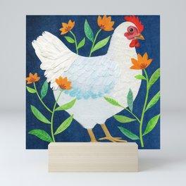 White Chicken Mini Art Print