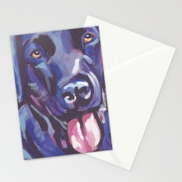 The happy Black Lab Love of My Life -your Labrador dog keeps you smiling! Stationery Cards