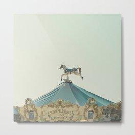 Carrousel Horse Metal Print