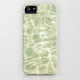 Rippling Clear sea on the south Cornish Coast iPhone Case