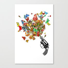 POW! Flowers... Canvas Print