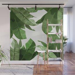 Tropical Palm Print Treetop Greenery Wall Mural
