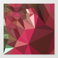jazzberry Canvas Prints featuring Jazzberry Jam Purple Abstract Low Polygon Background by patrimonio