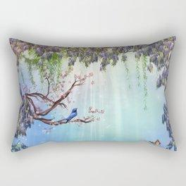 Purple Wisteria Springtime Rectangular Pillow