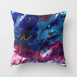Brendon Urie abstract synesthetic painting Throw Pillow