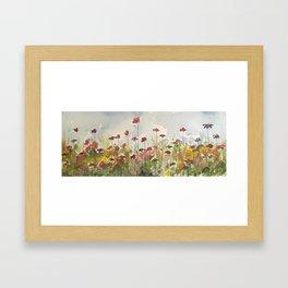 Edging the Garden Framed Art Print
