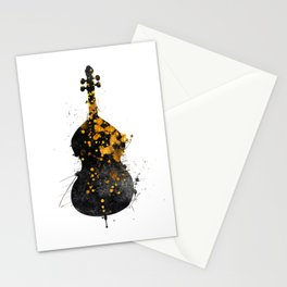 double bass music art #doublebass Stationery Cards