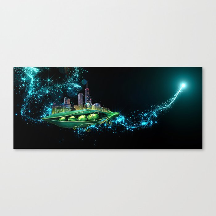 The Peabrain Society Peapod Canvas Print