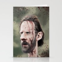 rick grimes Stationery Cards featuring Rick Grimes by dbruce