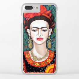 Frida - queen of hearts closer Clear iPhone Case