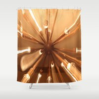 chandelier Shower Curtains featuring chandelier by Chris Cooch