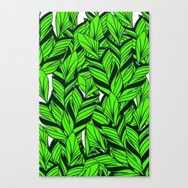 Jungle Banana Leaves Pattern Canvas Print