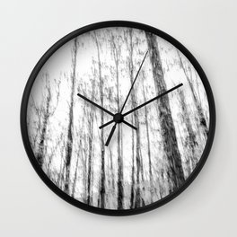 Black and white tree photography - Watercolor series #3 Wall Clock