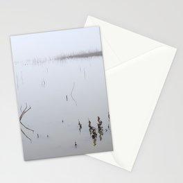Foggy Lake. Beautiful Sunrise. Minimal. Stationery Cards