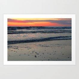 Flagler Beach Sunset Art Print