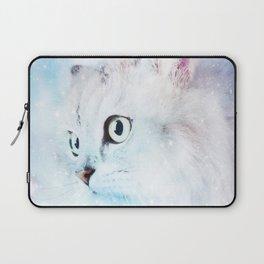 Fluffy starry cat Laptop Sleeve