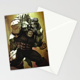 hulk v.s. juggernaut Stationery Cards