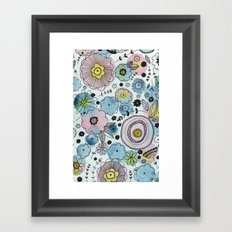 Blue and purple flowers Framed Art Print