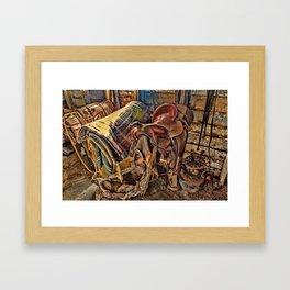 The Old Tack Room Framed Art Print