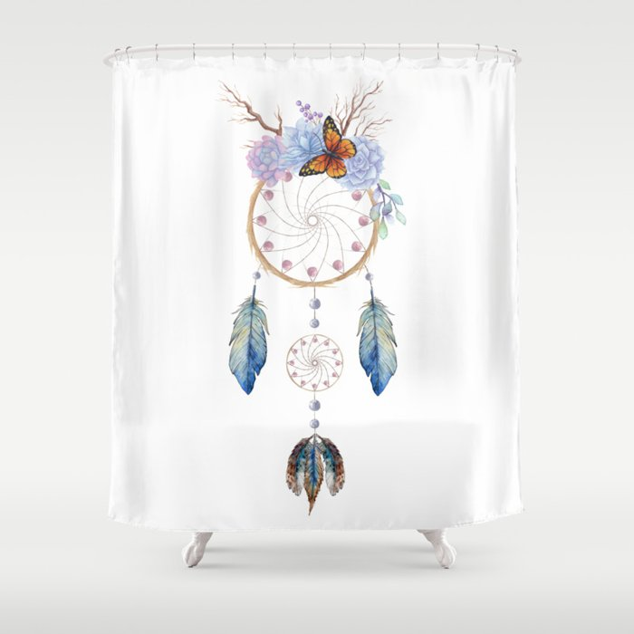 Boho Dreamcatcher Shower Curtain By Shadowisper