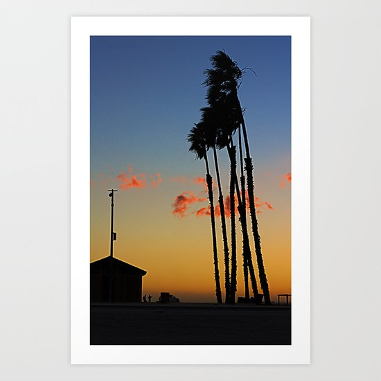 Long Beach Hut Art Print