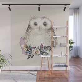 Boho Illustration- Be Wise Little Owl Wall Mural