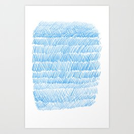 Blue Weaving Art Print