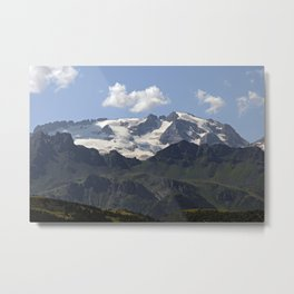 Alpine Ridge Alps Mountains Snow Peak Landscape Metal Print