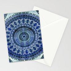Vintage Blue Wash Mandala Stationery Cards
