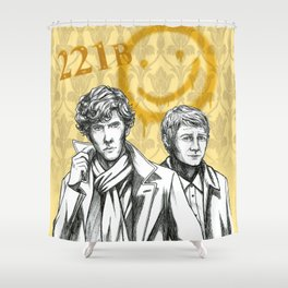 Sherlock BBC Shower Curtain
