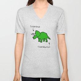 Triceratops Tricerabottom Unisex V-Neck