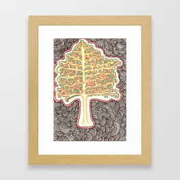 Tree of Doodles Framed Art Print