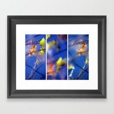 Beyond Blue - Triptych Framed Art Print