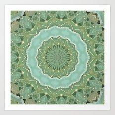 Succulent Mandala Art Print