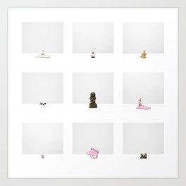 Untitled - Five (Construction Archives, Esthétique) Art Print