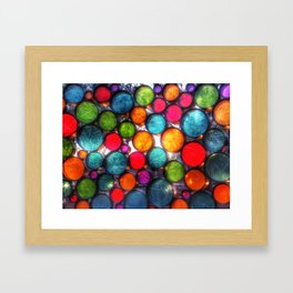 Abstract Droplets Framed Art Print